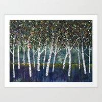 Evening Aspens Art Print
