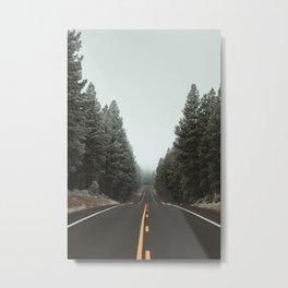 Road to the Fog Metal Print