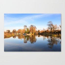 River Wey, Pyrford, Surrey Canvas Print