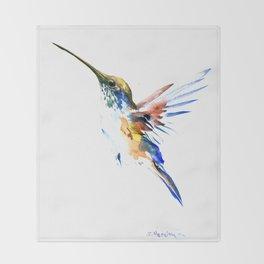 Flying Hummingbird Throw Blanket
