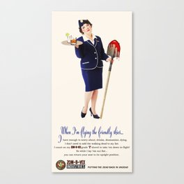 Zom-B-Vex Stewardess Canvas Print