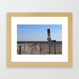 Beach Closed Framed Art Print