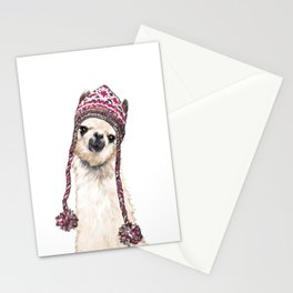 The Llama with Hat Stationery Cards