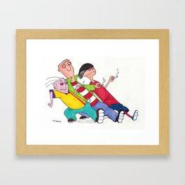 Ed, Edd, and Eddy Strutting Their Stuff Framed Art Print
