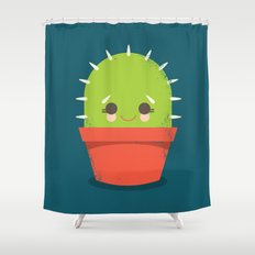 Kawaii Cactus Dude Shower Curtain