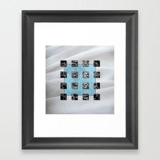 SQUARE AMBIENCE - White Veil Framed Art Print