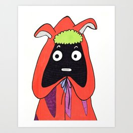 Alien Guy Art Print