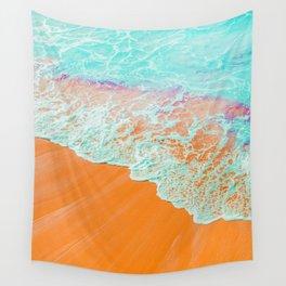 Coral Shore #photography #digitalart Wall Tapestry