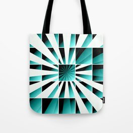 Abstract geometric turquoise Tote Bag