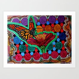 Cindy's Butterfly Art Print