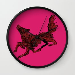 Flatcoated Retriever Howl Wall Clock