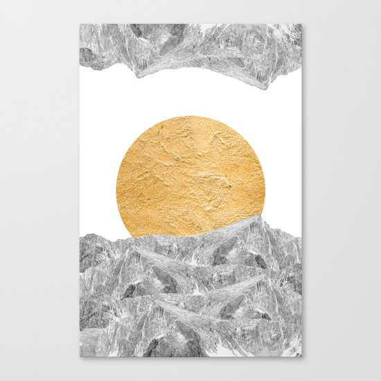Modern Abstract - Sun and Mountains Canvas Print