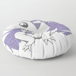 Baby Dragon Hoards Carnival Tickets Floor Pillow
