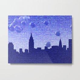 New York Bubbles Skyline Metal Print