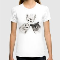 smile T-shirts featuring The Owl's 3 by Isaiah K. Stephens