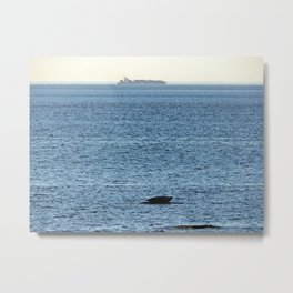 Seal and Ship Metal Print