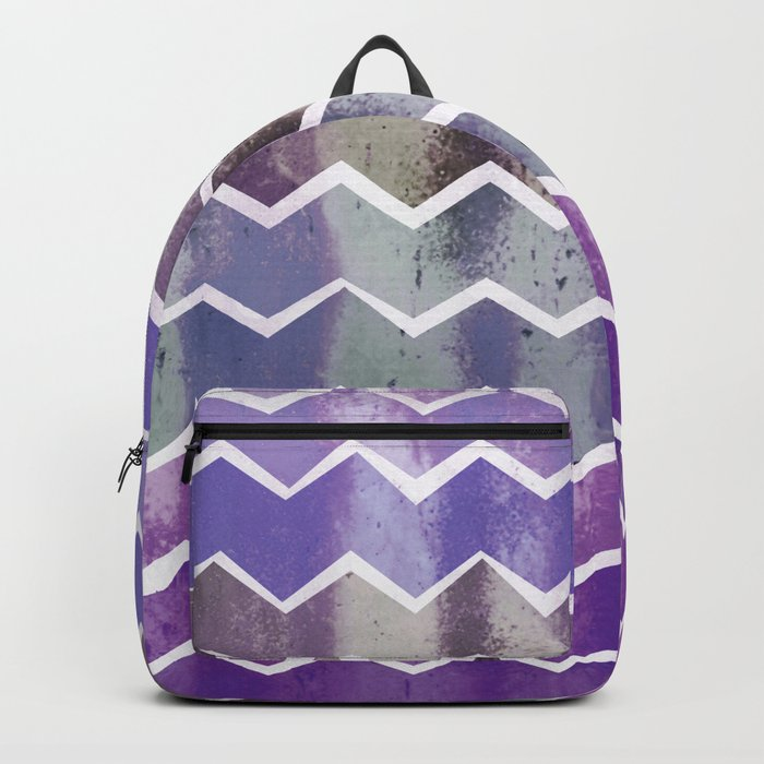 CHEVRON STRIPES - PURPLE Backpack