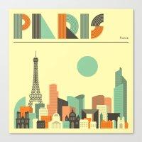 paris Canvas Prints featuring PARIS by Jazzberry Blue