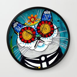 Stormy the Cat Wall Clock