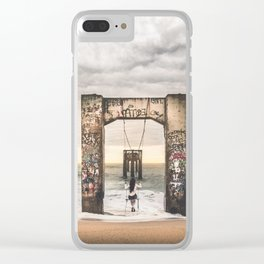 Girl and her swing Clear iPhone Case