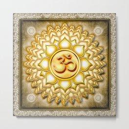 Crown Chakra - Sahasrara Chakra Golden - Series I Metal Print