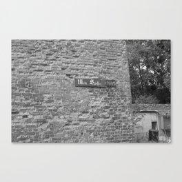 "Last wall of the ""Wein Straße""... Canvas Print"