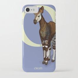 O is for Okapi: Under Appreciated Animals™ ABC nursery decor purple unusual animals iPhone Case