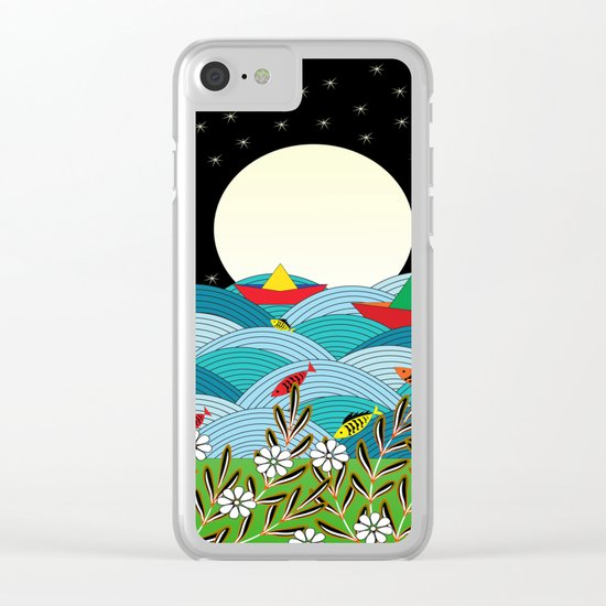 beautiful night Clear iPhone Case
