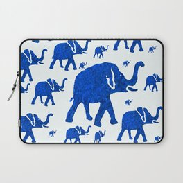 ELEPHANT BLUE MARCH Laptop Sleeve