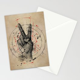 Anatomy of the Peace Sign Stationery Cards