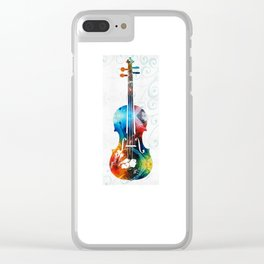 Colorful Violin Art by Sharon Cummings Clear iPhone Case