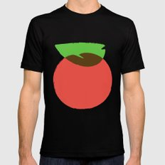 Apple 24 MEDIUM Black Mens Fitted Tee