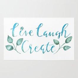 Live Laugh Create Rug