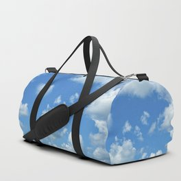 Blue sky and clouds Duffle Bag