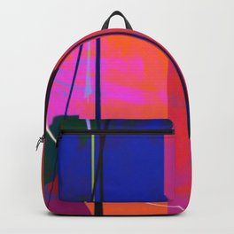 Modern Bold Pink Blue Orange Abstract Backpack