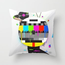 Molten Colour Bars Throw Pillow