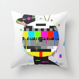 Molten Colour Bars Throw Pillow