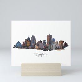 Memphis, Tennessee Skyline Fine Art Giclee Print Mini Art Print