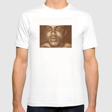 round 1...cassius clay White MEDIUM Mens Fitted Tee