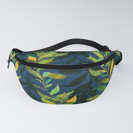 Blue and Green Seaweed Pattern Fanny Pack