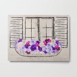 Bloomy View Metal Print