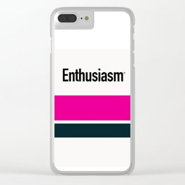 ENTHUSIASM Clear iPhone Case