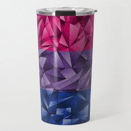 Abstract Bisexual Flag Travel Mug