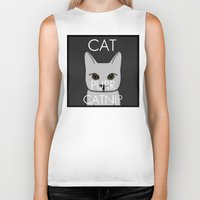 lorde Biker Tanks featuring Cat Purr Catnip by MySistersaHippie