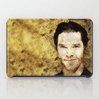 benedict cumberbatch iPad Cases featuring Portrait of Benedict Cumberbatch by André Joseph Martin