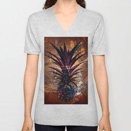 Copper Leaf Pineapple Art #buyart Unisex V-Neck