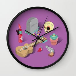 Mexican Lovers Wall Clock