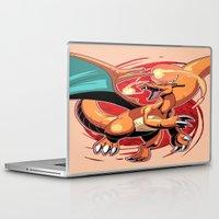 charizard Laptop & iPad Skins featuring Charizard by Yamilett Pimentel