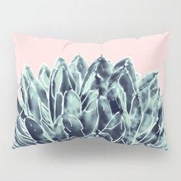 Blush Navy Blue Agave Chic #1 #succulent #decor #art #society6 Pillow Sham