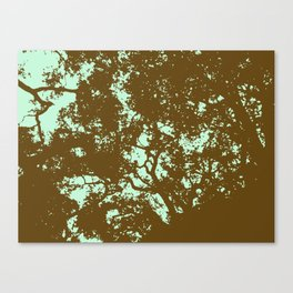 Mint and Brown Forest Canvas Print